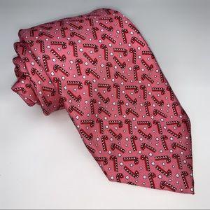 """Vineyard Vines Holiday Peppermint Pink Tie 3.5"""""""